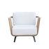 Welcome Padded armchair - / Teak by Unopiu