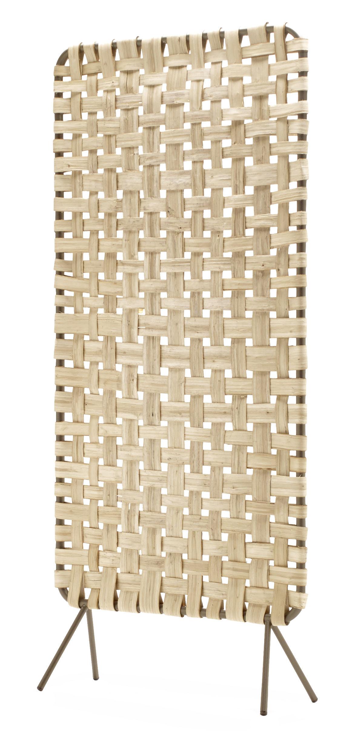 Arredamento - Separè, Paraventi... - Paravento Zumitz - Alto / Castagno intrecciato a mano - L 77 x H 174 cm di Alki - Alto / Legno & grigio - Castagno, metallo laccato