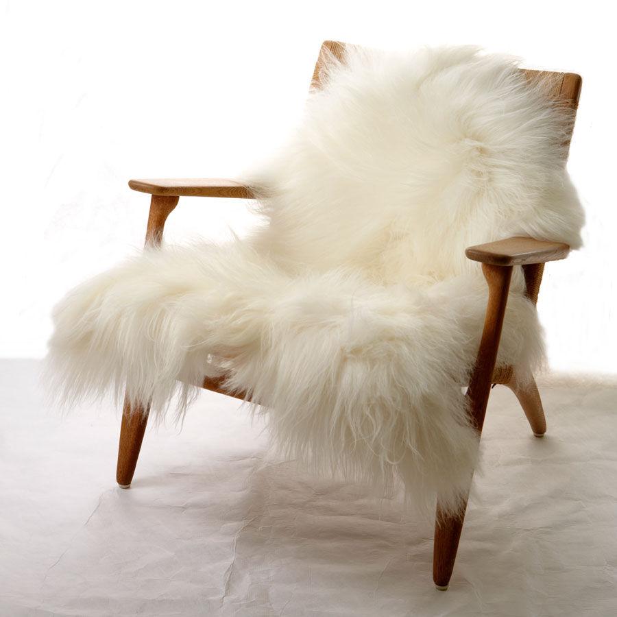 peau de mouton one moumoute fab design poils longs blanc naturel l 100 made in design