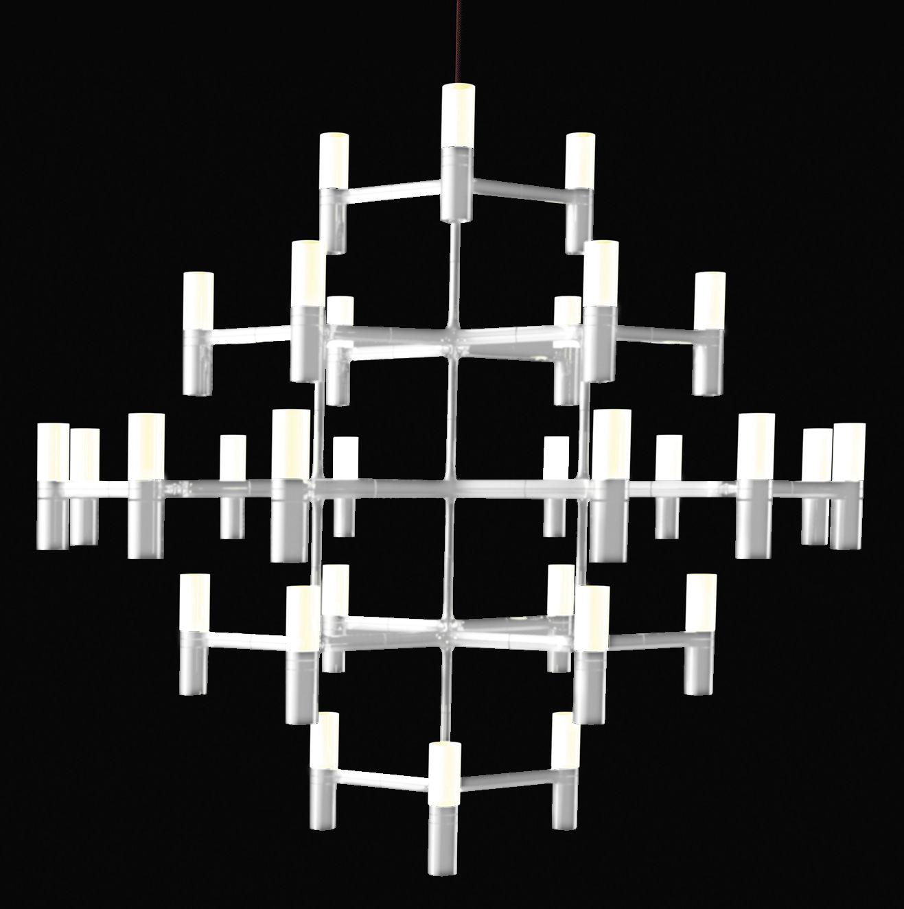 Lighting - Pendant Lighting - Crown Major Pendant - Ø 115 cm by Nemo - Ø 115 cm - Matt white - Aluminium, Opal Glass