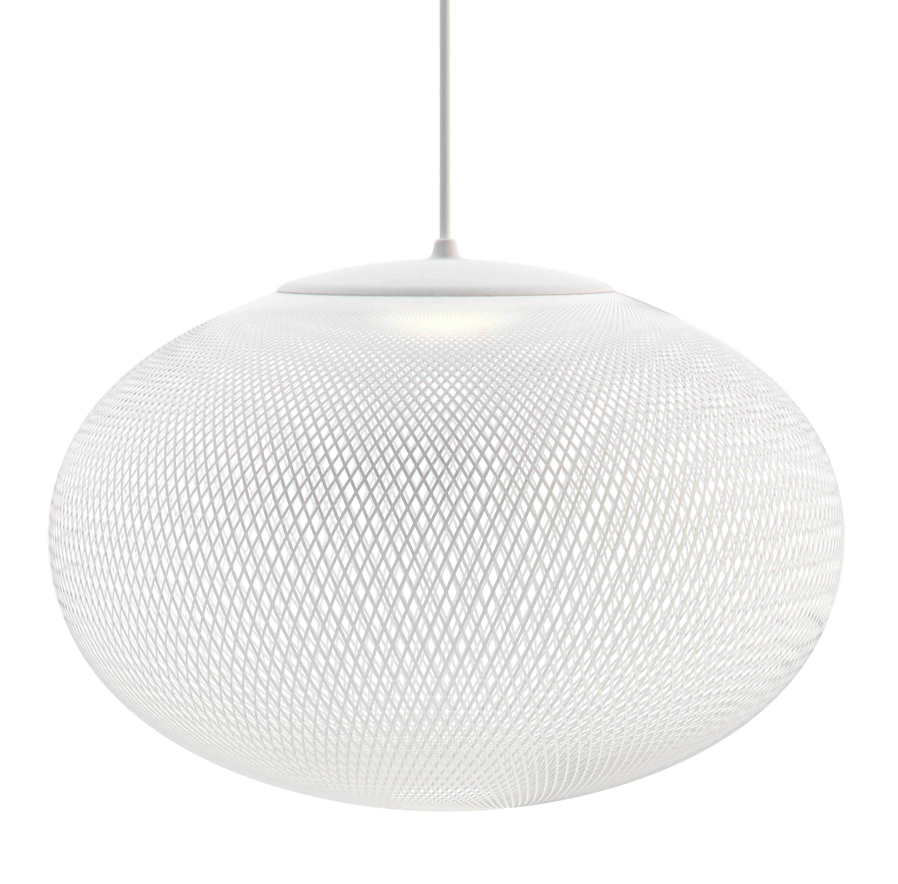 Lighting - Pendant Lighting - NR2 Medium LED Pendant - Fiberglass / Ø 55 cm by Moooi - White - Fibreglass, Plastic