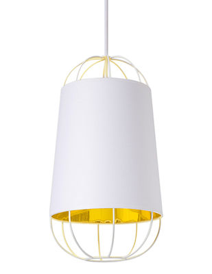 Lanterna Small Pendelleuchte / Ø 22 cm x H 42 cm - Petite Friture - Weiß,Gold