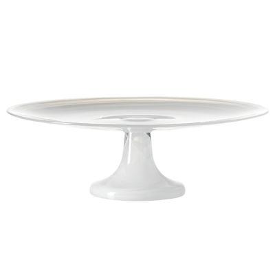 Plat à gâteau Alabastro / Verre - Ø 31 cm - Leonardo blanc en verre