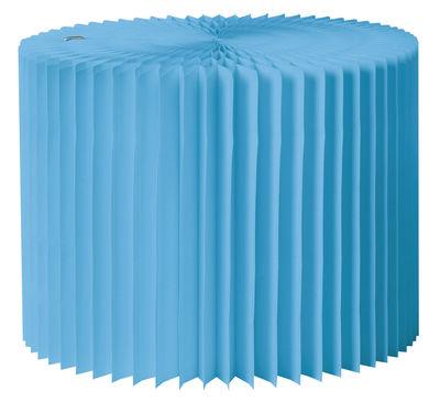 Mobilier - Tables basses - Pouf K-Baby / Pliable - Ø 56 cm - Vange - Bleu - Polypropylène