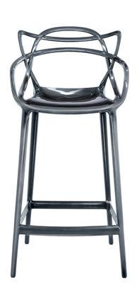 Arredamento - Sgabelli da bar  - Sedia da bar Masters / H 65 cm - Metallizzato - Kartell - Titanio - Polipropilene metallizzato