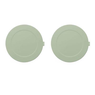 Set de table Place-we-met / Set de 2 - Silicone souple - Fatboy vert en matière plastique