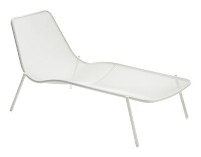 Outdoor - Sonnenliegen, Liegestühle und Hängematten - Round Sonnenliege - Emu - Weiß - Stahl