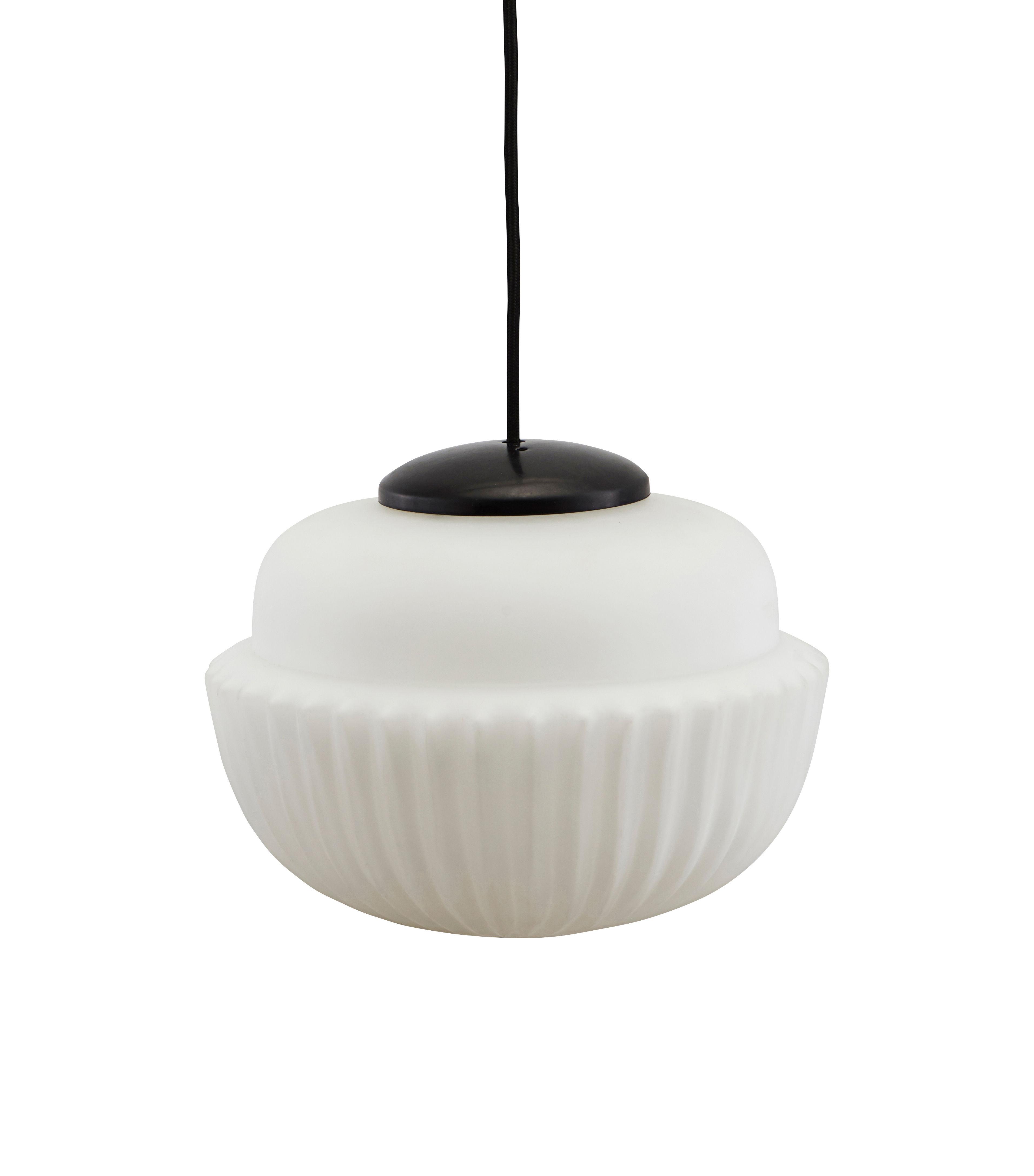 Illuminazione - Lampadari - Sospensione Acorn Large - / Vetro - Ø 29 cm di House Doctor - Ø 29 cm / Bianco - Metallo, Vetro