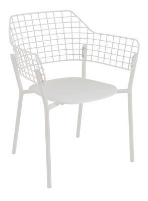 Lyze Stapelbarer Sessel / Metall - Emu - Weiß mattiert