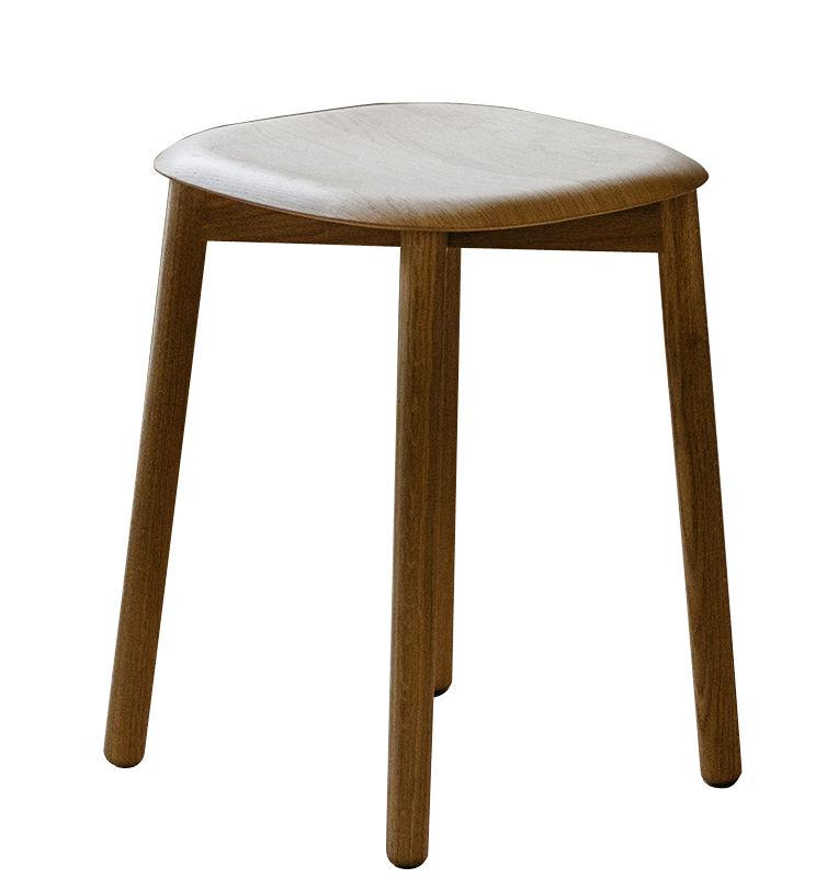 Furniture - Stools - Soft Edge 72 Stool - H 47 cm / Wood by Hay - Oak - Varnished oak plywood, Varnished solid oak
