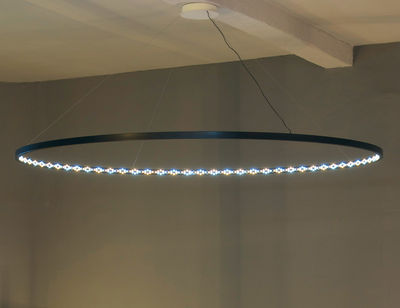 Luminaire - Suspensions - Suspension Omega / LED - Ø 200 cm - Le Deun - Noir - Acier