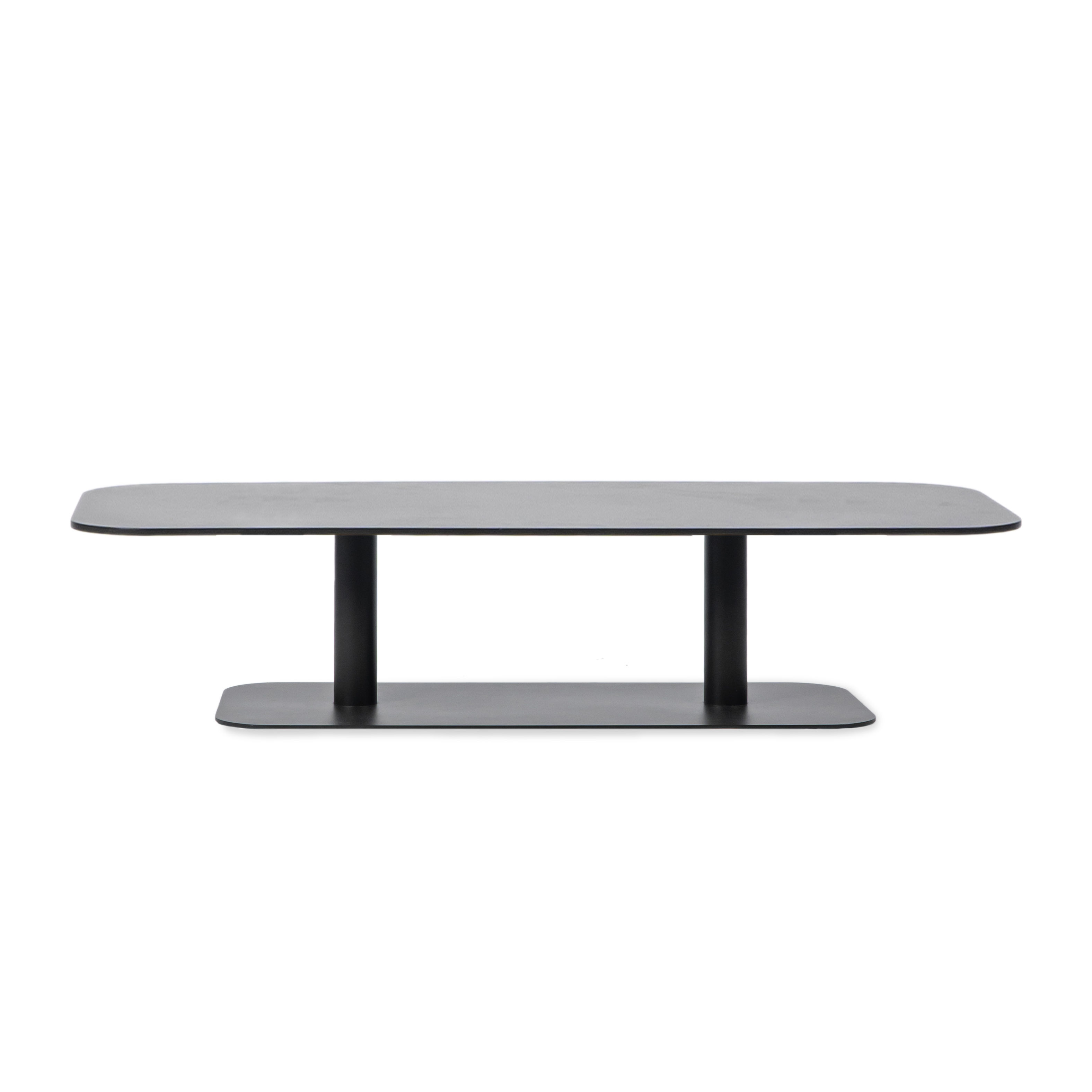 Mobilier - Tables basses - Table basse Kodo / 129 x 45 cm - Aluminium - Vincent Sheppard - Gris Fossile - Aluminium thermolaqué