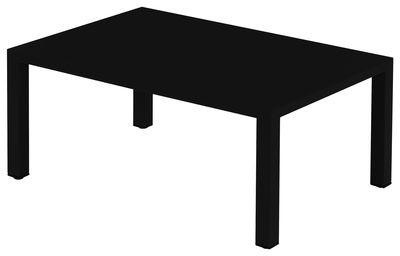 Table basse Round / Méta l - 70 x 100 cm - Emu noir en métal