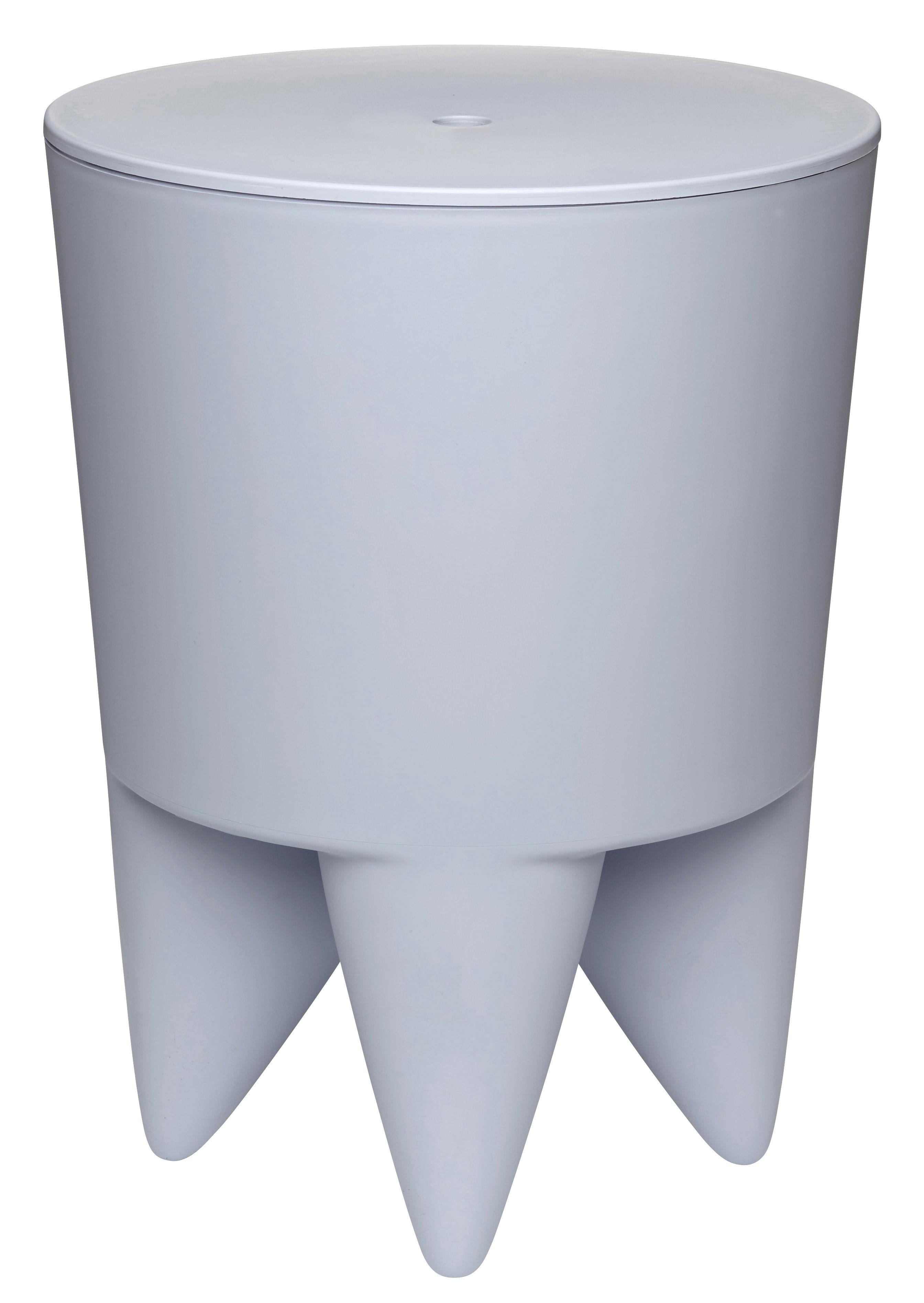 Mobilier - Tabourets bas - Tabouret New Bubu 1er Coffre - Plastique - XO - Bleu pâle - Polypropylène