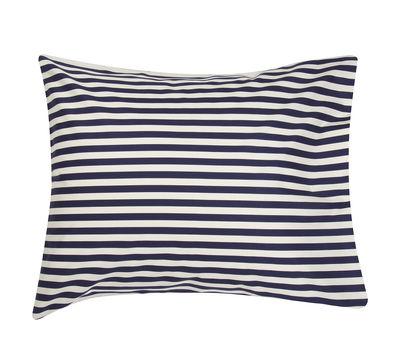Déco - Coussins - Taie d'oreiller 65 x 65 cm Oiva Tasaraita - Marimekko - Tasaraita / Blanc & bleu marine - Coton
