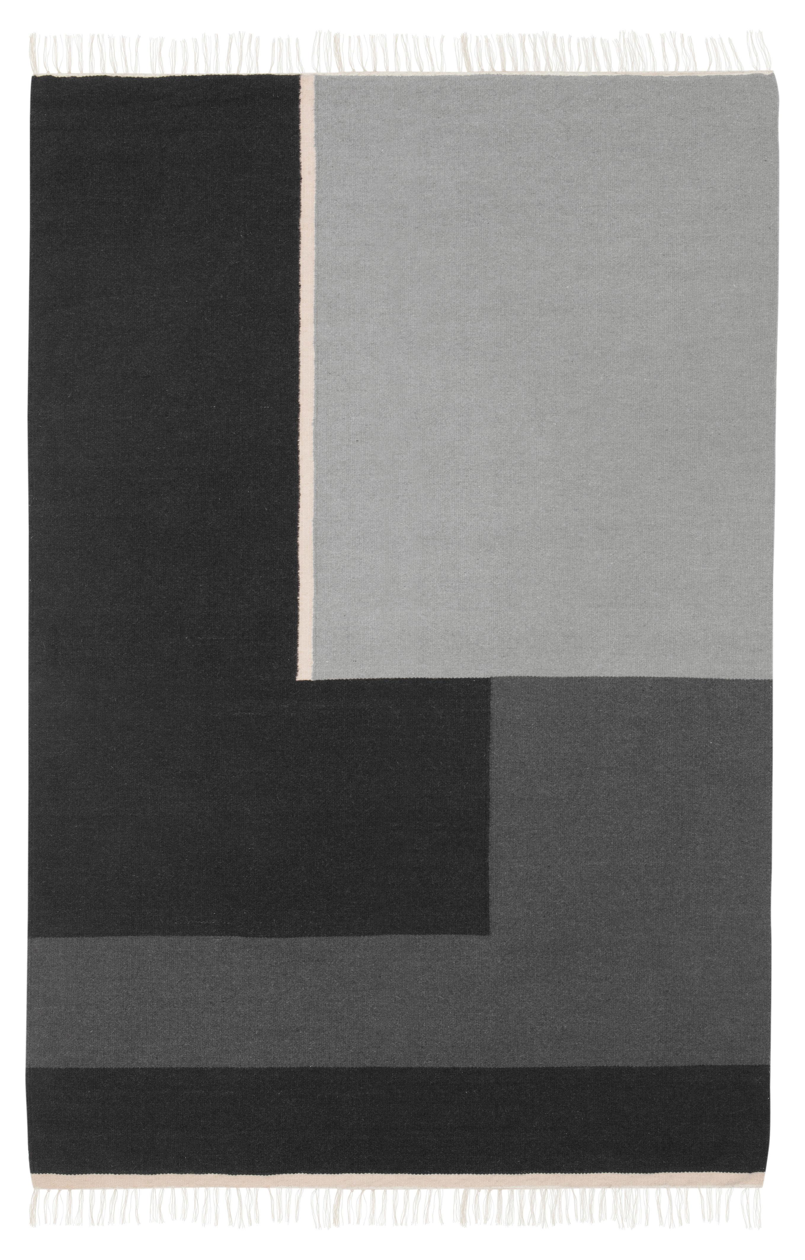 Déco - Tapis - Tapis Kelim Section / XL - 250 x 160 cm - Ferm Living - XL - Noir & Blanc - Coton, Laine