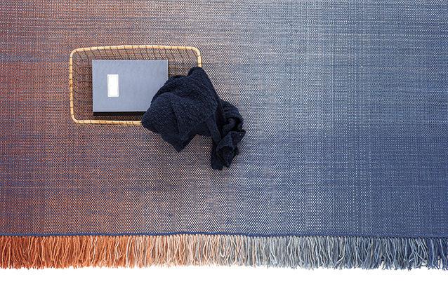 Tapis shade palette 2 170 x 240 cm bleu orange - Made in design tapis ...