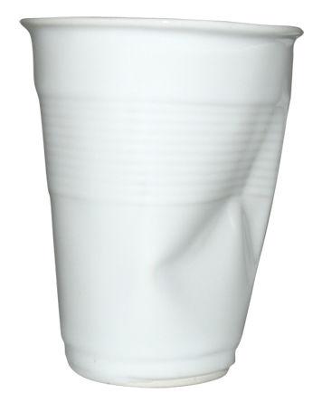 Arts de la table - Tasses et mugs - Tasse à café / H 9 cm - Rob Brandt - Pop Corn - Blanc - Céramique