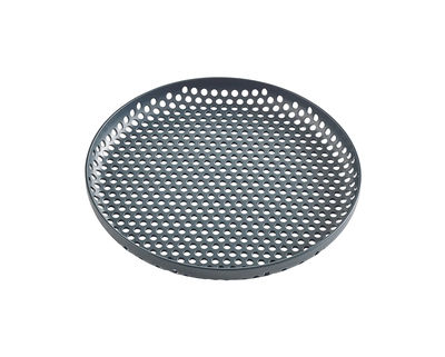 Tableware - Trays - perforated Tray - / Small - Ø 20 cm by Hay - Dark green - Perforated aluminium