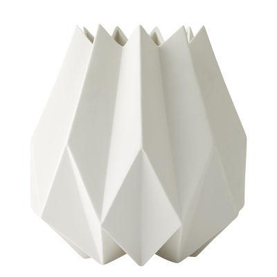 Interni - Vasi - Vaso Folded / Argilla - Ø 13 x H 23 cm - Menu - Bianco - Argilla
