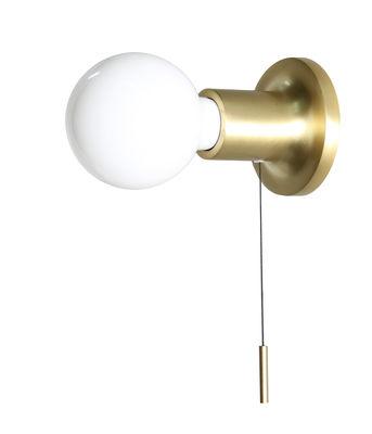 Lighting - Wall Lights - Punt Wall light - / With switch by Carpyen - Shiny gold - Cast aluminium
