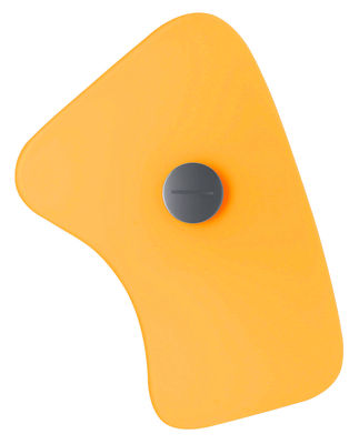 Lighting - Wall Lights - Bit 5 Wall light with plug by Foscarini - Yellow - Glass, Metal