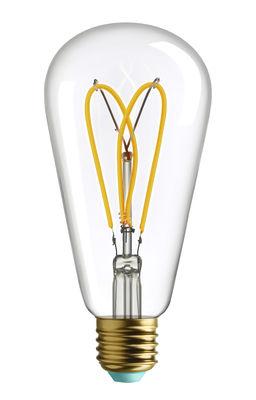 Ampoule LED filaments E27 Whirly Willis / 4W (19W) - 180 Lumen - Plumen transparent en verre
