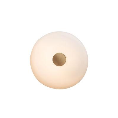 Illuminazione - Lampade da parete - Applique Tropico Piccola LED - / Plafoniera - Ø 24 cm / Vetro soffiato di Fontana Arte - Blanc opalin / Or - Metallo galvanizzato, vetro soffiato