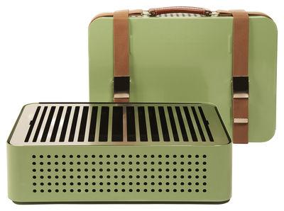Image of Barbecue portatile a carbone Mon Oncle - / Portatile - 44 x 32 cm di RS BARCELONA - Verde - Metallo