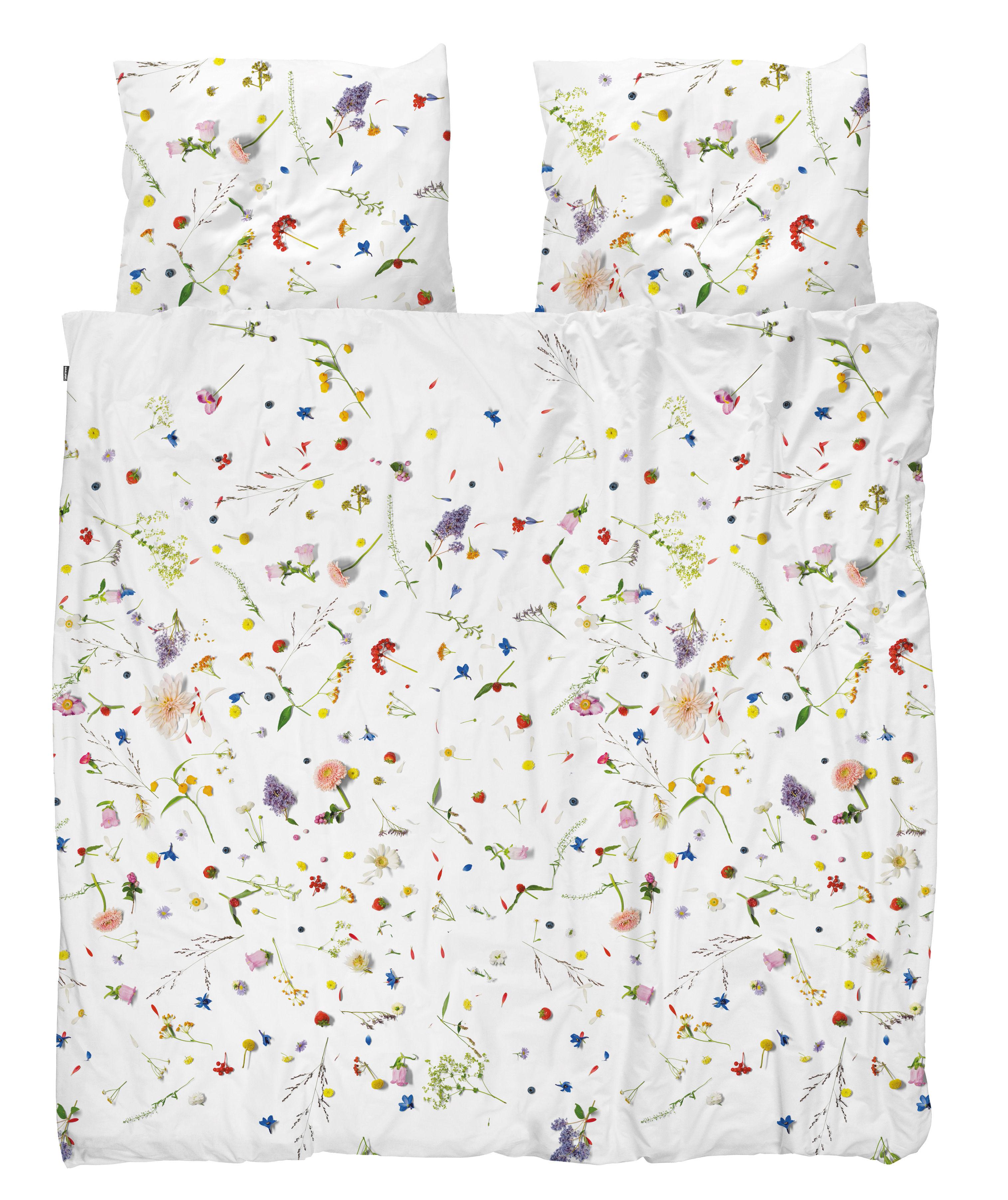 Dekoration - Wohntextilien - Flower Fields Bettwäsche-Set für 2 Personen / 3-teilig, für 2 Personen - 240 x 220 cm - Snurk - Blumen mehrfarbig - Percale de coton