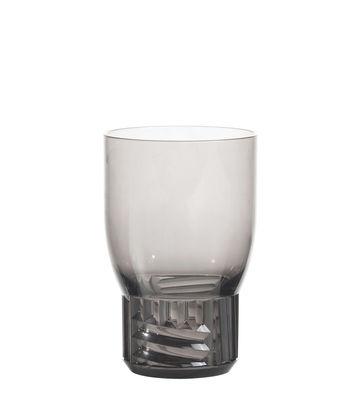 Image of Bicchiere Trama Medium - / H 13 cm di Kartell - Grigio - Materiale plastico