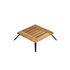 Welcome Coffee table - / 55 x 55 cm - Teak by Unopiu