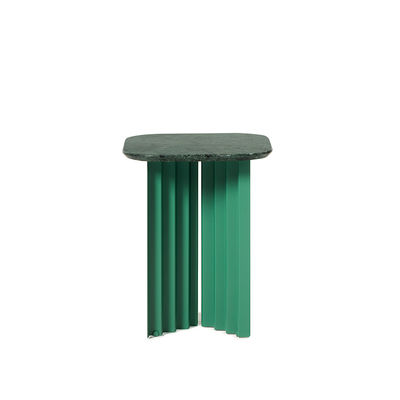Furniture - Coffee Tables - Plec Small End table - / Marble - 37 x 37 x H 45 cm by RS BARCELONA - Green - Marble, Steel