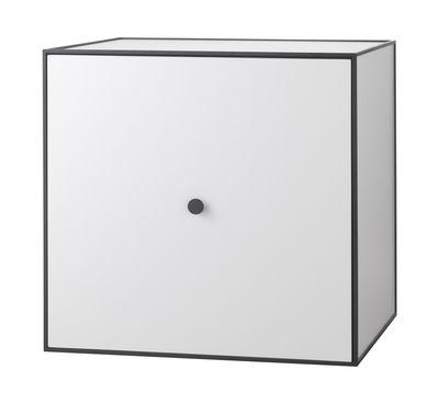 Etagère Frame Boîte 49x49 cm by Lassen noir,gris clair en bois