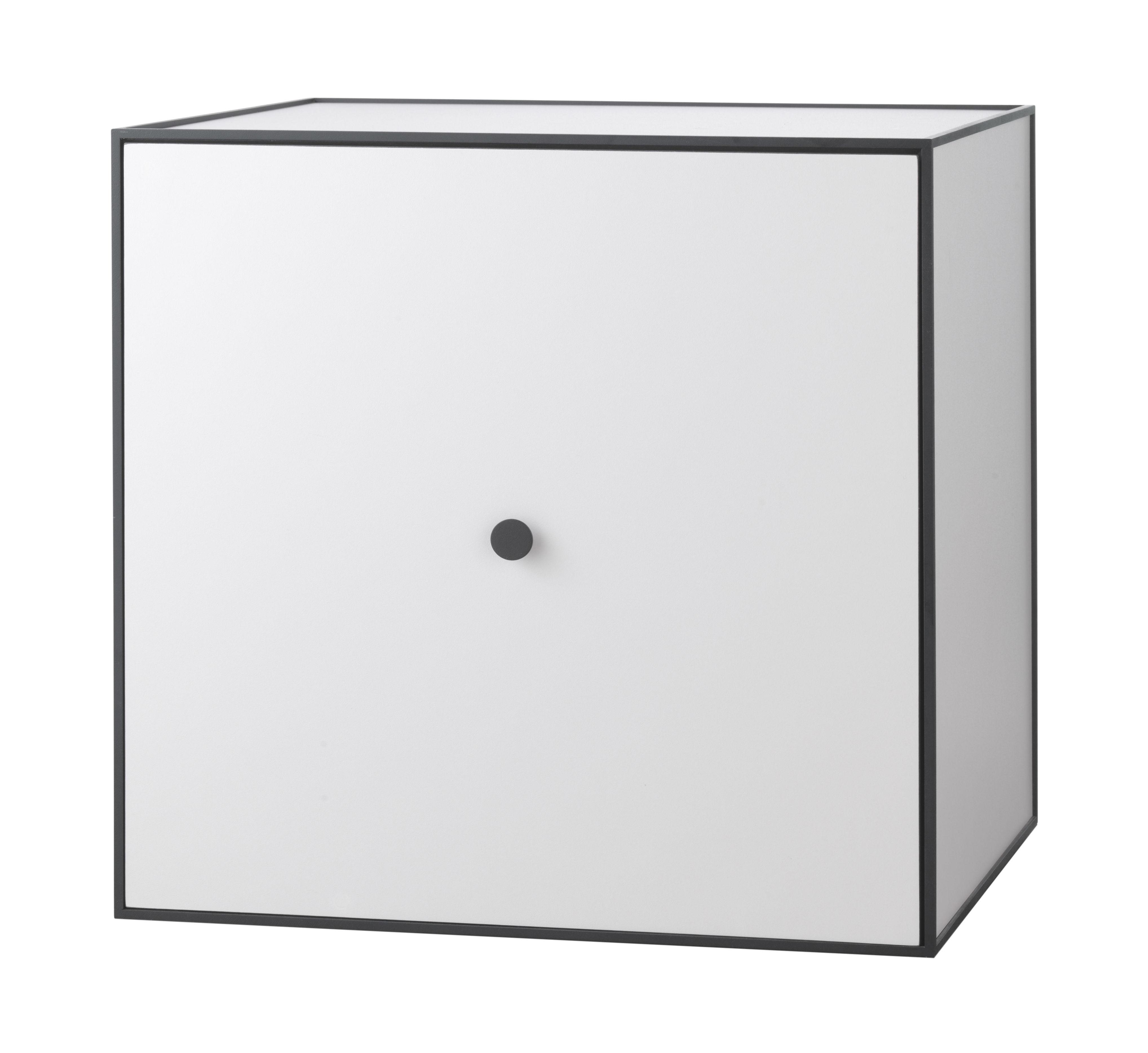 Mobilier - Etagères & bibliothèques - Etagère Frame / Boîte - 49x49 cm - by Lassen - Gris clair - Mélamine, Métal laqué époxy