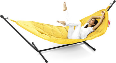 Hamac Headdemock Polyester - Fatboy jaune ocre en tissu