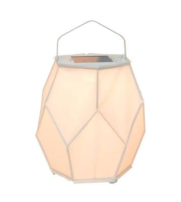 Illuminazione - Lampade da tavolo - Lampada solare La Lampe Couture Large - / Ø 56 x H 75 cm di Maiori - Bianco - Alluminio, Tela Batyline