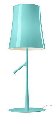 Lampe de table Birdie Grande / LED - H 70 cm - Foscarini vert d'eau en métal