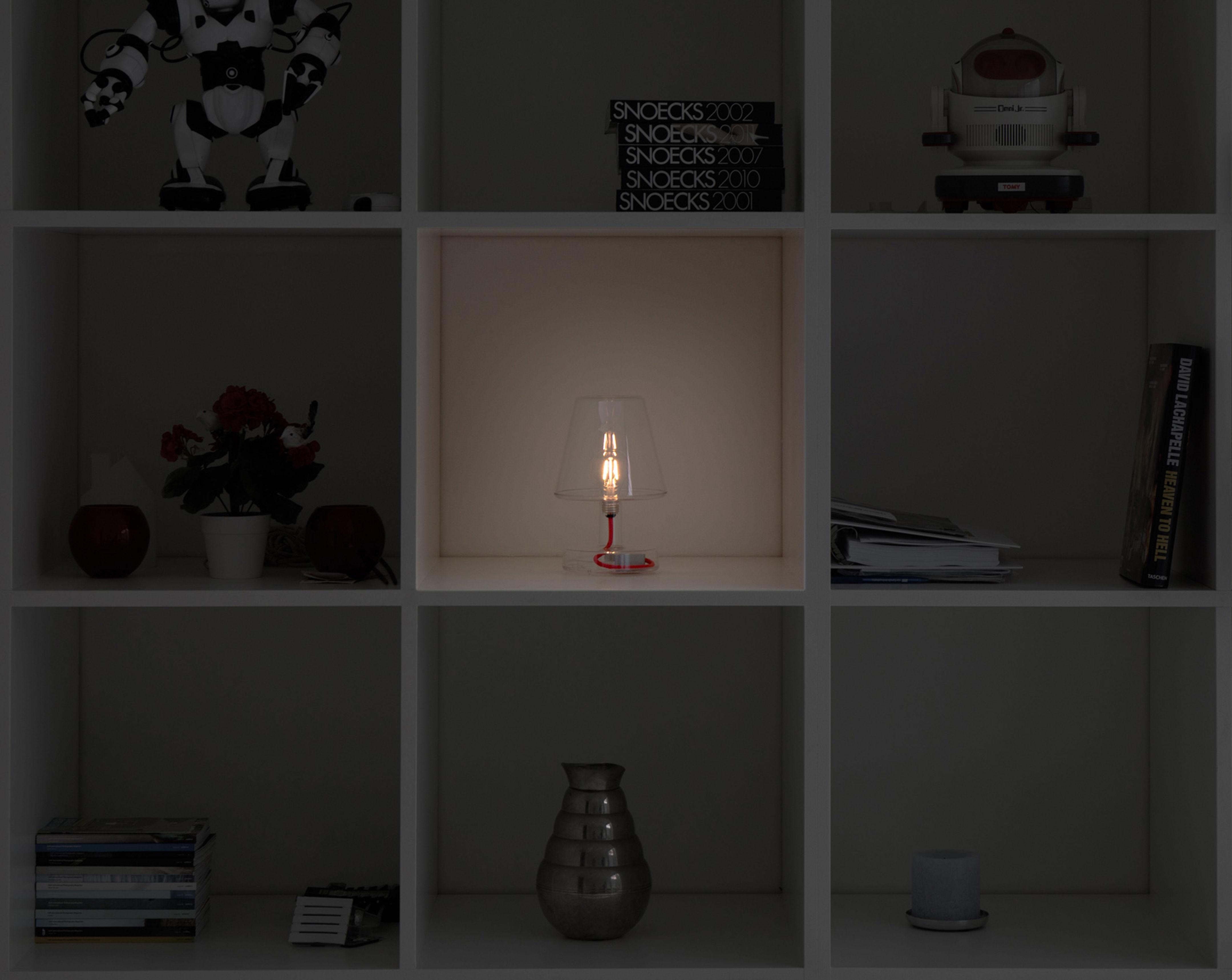 Lampe ohne kabel transloetje von fatboy transparent farblos h