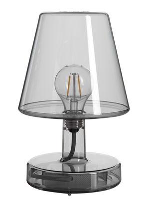Lampe sans fil Transloetje / LED - Ø 16 x H 25 cm - Fatboy gris transparent en matière plastique