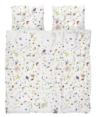 Parure de lit 2 personnes Flower Fields / 240 x 220 cm - Snurk blanc/multicolore en tissu