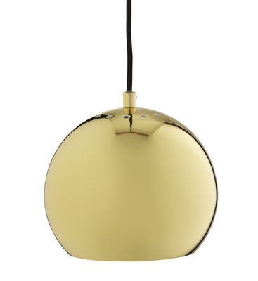 Lighting - Pendant Lighting - Ball Small Pendant by Frandsen - Brass - Brass finish metal