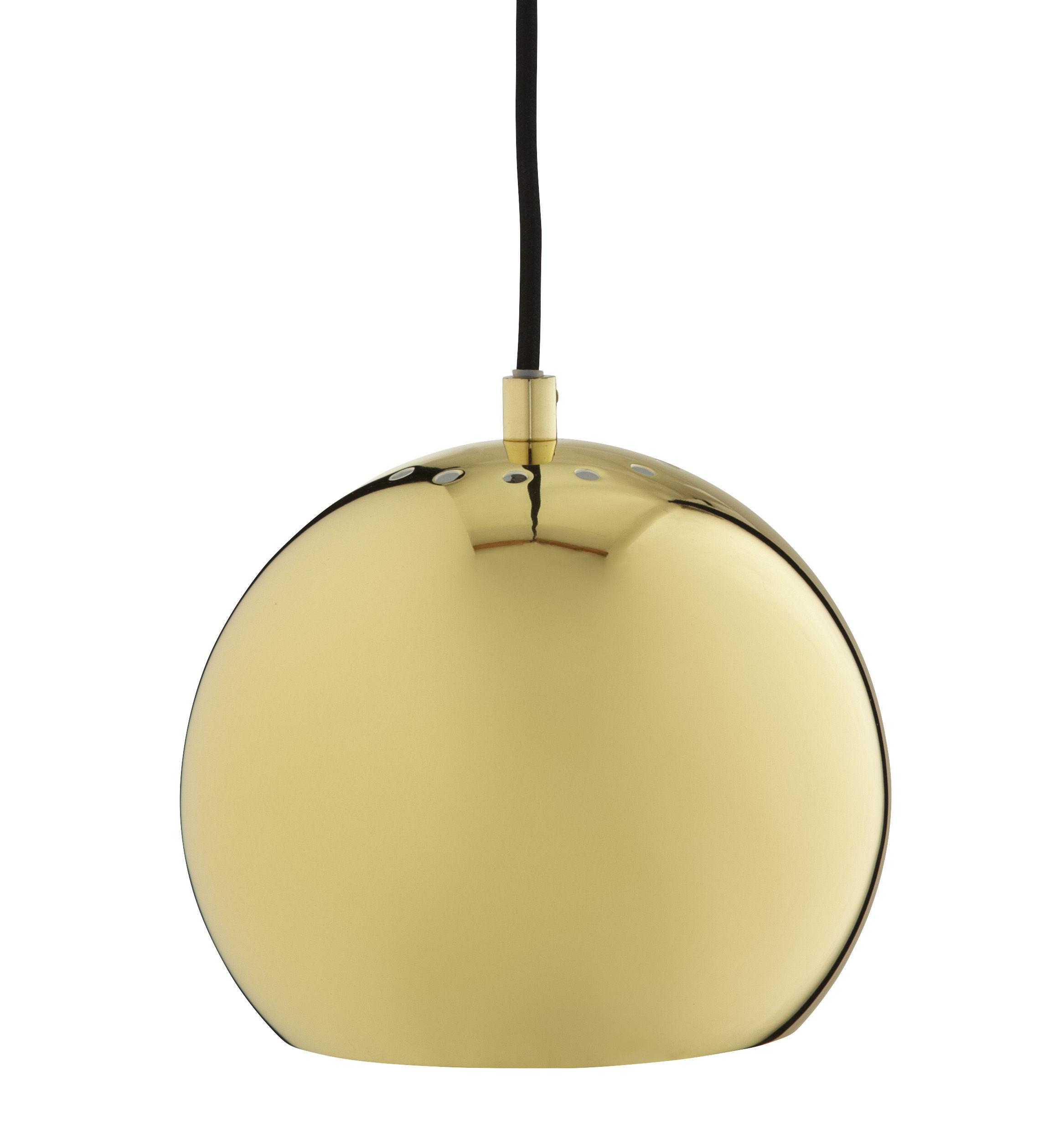 Lighting - Pendant Lighting - Ball Small Pendant by Frandsen - Brass - Brass finish metal