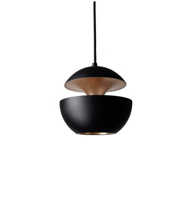 Lighting - Pendant Lighting - Here Comes The Sun - Mini Pendant - Ø 10 cm - 1970 reissue by DCW éditions - Black / Copper inside - Aluminium