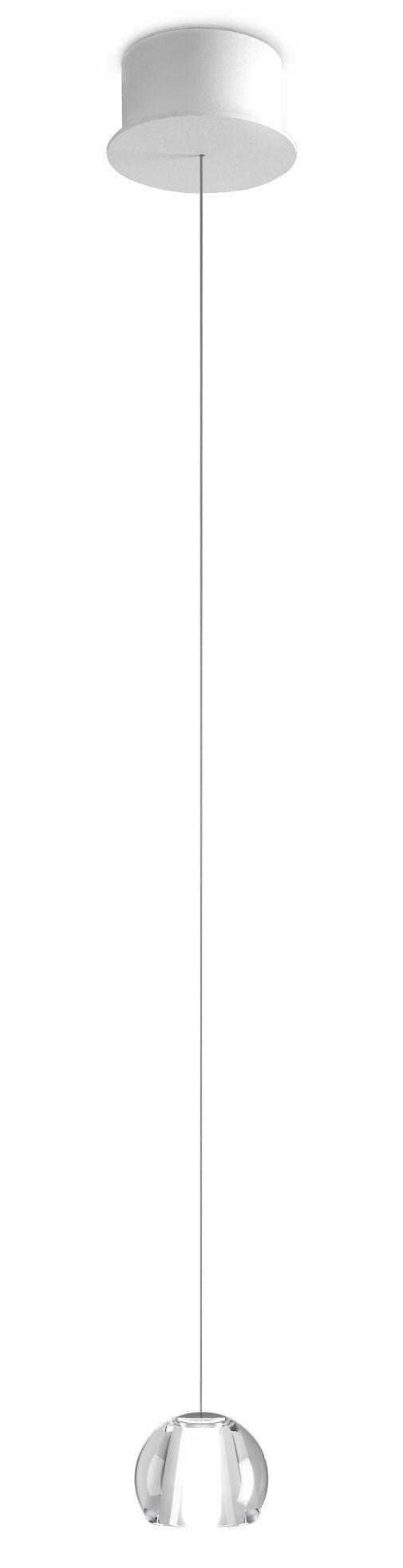 Lighting - Pendant Lighting - Multispot Beluga LED Pendant - LED / 1 element by Fabbian - Transparent - Cristal