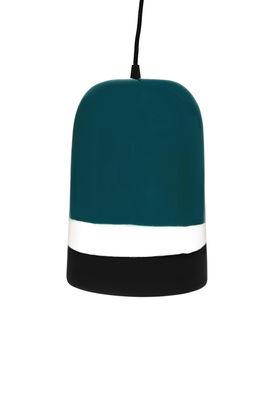 Sicilia Pendelleuchte / Ø 19 cm - Keramik - Maison Sarah Lavoine - Weiß,Rettich, schwarz,Blue Sarah