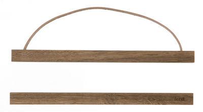 Image of Portafoto Wooden Small - / L 31 cm di Ferm Living - Quercia affumicata - Legno