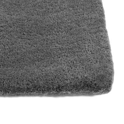 Decoration - Rugs - Raw Rug NO 2 Rug - / 240 x 170 cm - Bouclé wool by Hay - Dark grey - Tufted wool