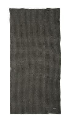 Serviette Organic / 100 x 50 cm - Ferm Living gris foncé en tissu