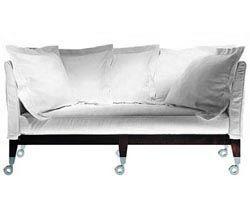 Möbel - Sofas - Neoz Sofa - Driade - Ebenholz - Aluminium, Leinen, Mahagoni